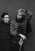 Sting and Jools Holland backstage at soundcheck  The Police  London 1981