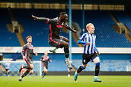 Leeds United forward Jean Kevin Augustin (9), on loan from Red Bull Leipzig,  during the U23 Professional Development League match between U23 Sheffield Wednesday and U23 Leeds United at Hillsborough, Sheffield, England on 3 February 2020.