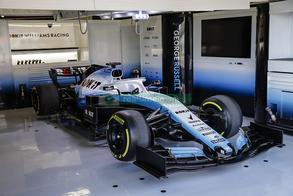 February 18, 2019 - Barcelona, Barcelona, Spain - Williams Racing model car in the box during the Formula 1 2019 Pre-Season Tests at Circuit de Barcelona - Catalunya in Montmelo, Spain on February 18. (Credit Image: © Xavier Bonilla/NurPhoto via ZUMA Press)