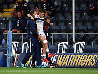 Rugby Union - 2019 / 2020 Gallagher Premiership - Worcester Warriors vs Bristol Bears<br /> <br /> Bristol Bears' Harry Randall is carried off the pitch, at Sixways.<br /> <br /> COLORSPORT/ASHLEY WESTERN