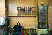 The female owner of a cafe called 'Doctor' - allegedly nearly a century old, Islamic Cairo, Egypt