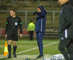 Forfar Athletic's manager Jim Weir. Forfar Athletic 2 v 3 Arbroath, Scottish Football League Division One played 8/12/2018 at Forfar Athletic's home ground, Station Park, Forfar.