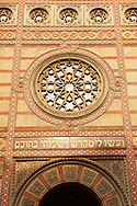 The Dohány Street  or Great Synagogue (nagy zsinagóga).  The Second largest Synagogue in the world built in Moorish Revival Style. Budapest, Hungary .<br /> <br /> Visit our HUNGARY HISTORIC PLACES PHOTO COLLECTIONS for more photos to download or buy as wall art prints https://funkystock.photoshelter.com/gallery-collection/Pictures-Images-of-Hungary-Photos-of-Hungarian-Historic-Landmark-Sites/C0000Te8AnPgxjRg