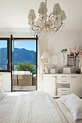 Architecture, detail of a nice bedroom with classic decor