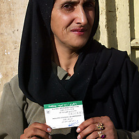 07 October 2004&#xD;&#xA;Kabul, Afghanistan.&#xD;&#xA;Election preparations in Afghanistan.&#xD;&#xA;&#xD;&#xA;&#xD;&#xA;&#xD;&#xA;With only days to go before voting in the Presidential elections begins throughout Afghanistan staff of polling centers are being issued with identification cards.<br />