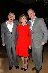 Kirk Douglas Dies At 103 - (L-R) Kirk, Anne and Michael Douglas attend the Friendly House 18th Annual Awards Luncheon honoring Anne Douglas as 'Woman of the Year', at the Beverly Hills Hotel in Los Angeles, CA, USA on October 20, 2007. Photo by APEGA/ABACAPRESS.COM