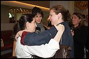 ELENA ARZAK; ,;HELENA RIZZO; ANGELA HARTNETT,  Veuve Clicquot World's Best Female chef champagne tea party. Halkin Hotel. Halkin St. London SW1. 28 April 2014.