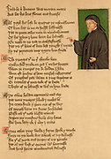 Geoffrey Chaucer (c1345-1401) English poet. Portrait from an early 15th century manuscript of the poem 'De Regimine Principum' by Thomas Hockleve (c1411). Hockleve (1370?-1450).