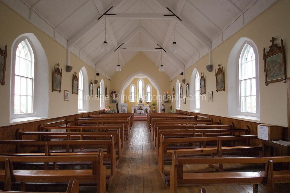 Interior of catholic church on the Aran Islands County Galway Ireland