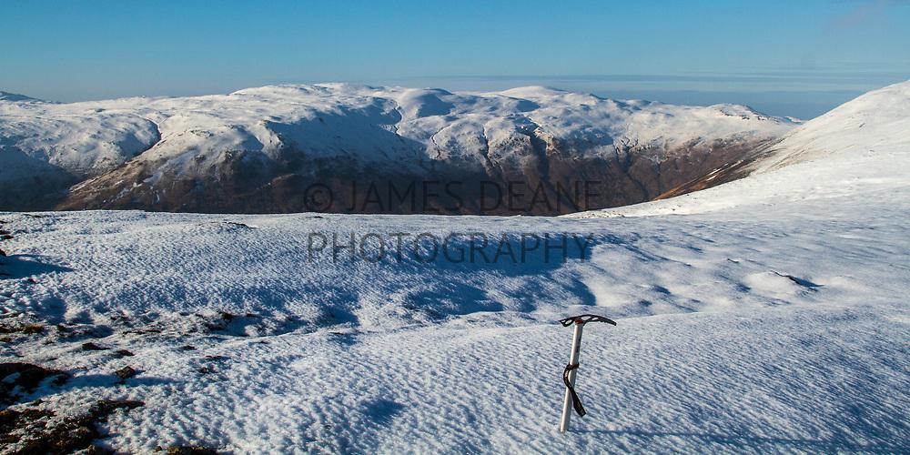 The Western view from Beinn Bheigier's summit ridge