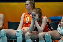 Britte Stuut of Netherlands, Rixt van der Wal of Netherlands after semi final Netherlands - Serbia, FIVB U20 Women's World Championship on July 17, 2021 in Rotterdam