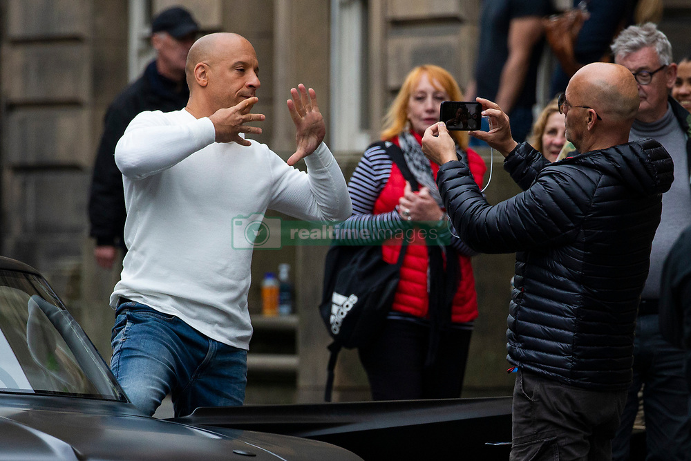 EXCLUSIVE: Fast and Furious 9 Filming continues on the Royal Mile in Edinburgh, Scotland. 10 Sep 2019 Pictured: Vin Diesel. Photo credit: Duncan McGlynn / MEGA TheMegaAgency.com +1 888 505 6342