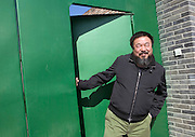 Chinese artist Ai Weiwei in his studio in northern Beijing. Ai is is one of the leading artists as well as independent curators and architectural designers in China.