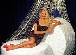 Model Jerry Hall poses during a photocall in London, where she announced her involvement in a forthcoming advertising campaign for Persil Tablets.