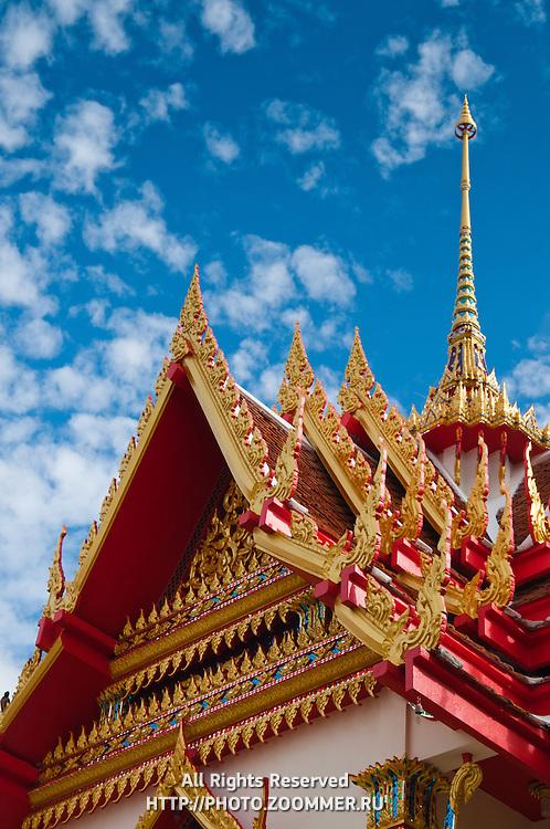 Wat Karon Buddist Temple in Phuket, Thailand