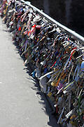 Thousands of padlocks have recently been locked on Pont de l'Archevêché, just in front of Notre Dame.
