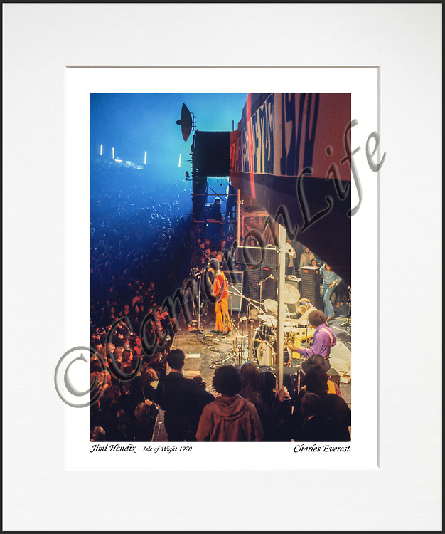 """Jimi Hendrix Experience - An affordable archival quality matted print ready for framing at home.<br /> Ideal as a gift or for collectors to cherish, printed on Fuji Crystal Archive photographic paper set in a neutral mat (all mounting materials are acid free conservation grade). <br /> The image (approx 6""""x8"""") sits within a titled border. The outer dimensions of the mat are approx 10""""x12"""""""