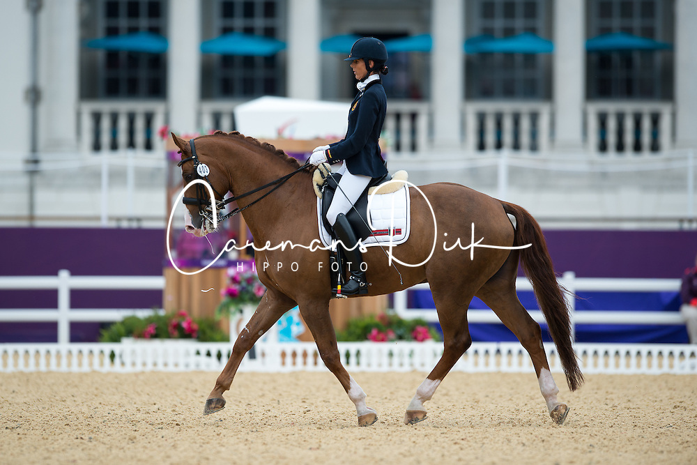 George Michele (BEL) - FBW Rainman<br /> Individual Championship Test - Grade IV - Dressage <br /> London 2012 Paralympic Games<br /> © Hippo Foto - Jon Stroud