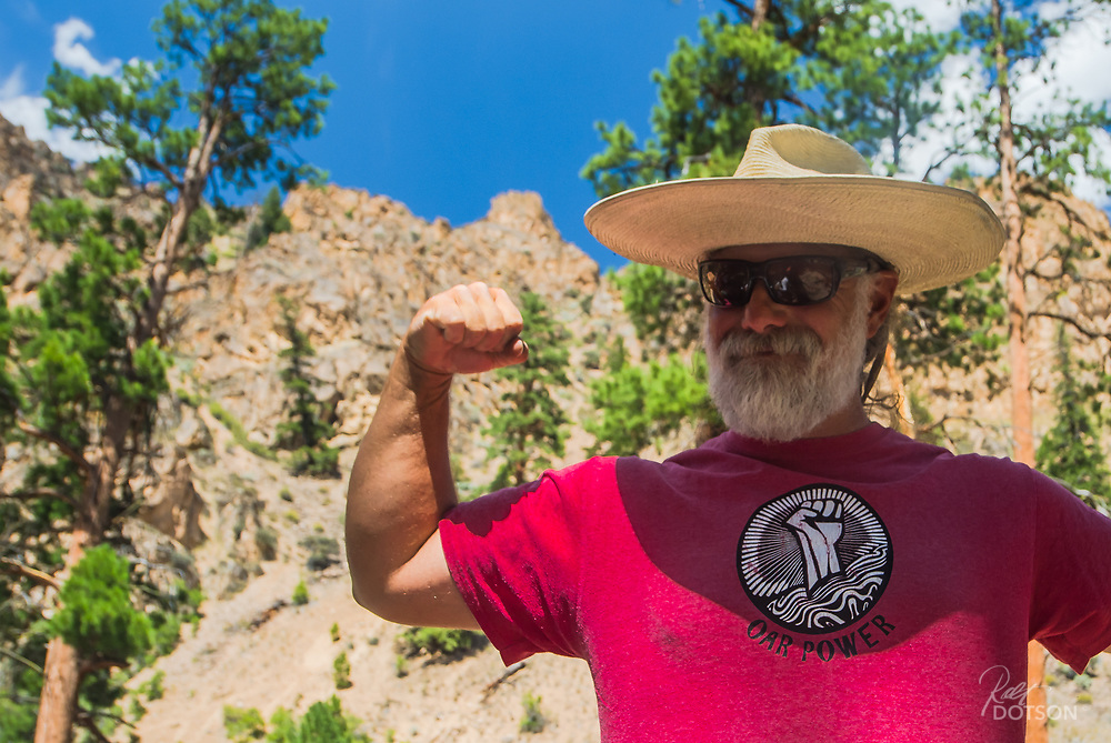 Guiding on the Middle Fork of the Salmon is his day job for the summer but he also splits time with Mayor duties in Riggens, Idaho. All of it powered by Oar Power.