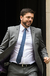 Downing Street, London, June 9th 2015. Welsh Secretary Stephen Crabb Leaves 10 Downing Street following the weekly meeting of the Cabinet.