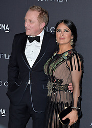 Salma Hayek and Francois-Henri Pinault attend the 2016 LACMA Art + Film Gala honoring Robert Irwin and Kathryn Bigelow presented by Gucci at LACMA on October 29, 2016 in Los Angeles, California. Photo by Lionel Hahn/AbacaUsa.com