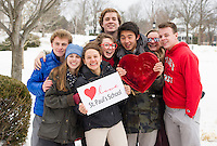I love St Paul's School campaign with students for Valentine's Day.  Karen Bobotas Photographer
