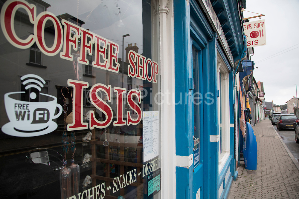 ISIS Coffee Shop in Hay-on-Wye, Wales, United Kingdom.