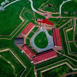 Aerial view of the Fort McHenry National Monument and Historic Shrine