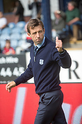 Dundee's manager Neil McCann. Dundee 1 v 2 Ross County, Scottish Premiership game played 5/8/2017 at Dundee's home ground Dens Park.