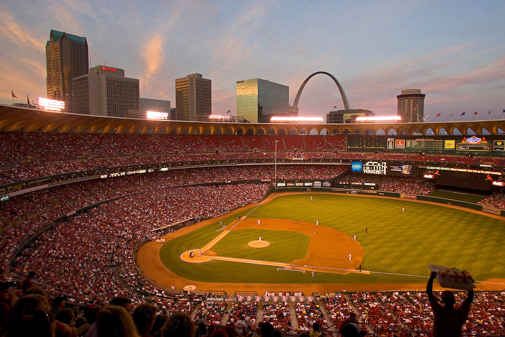 St. Louis Cardinals versus Cincinnati Reds, at the old Busch Stadium Monday night August 16, 2004. St. Louis won 10-3. Photo by August Miller