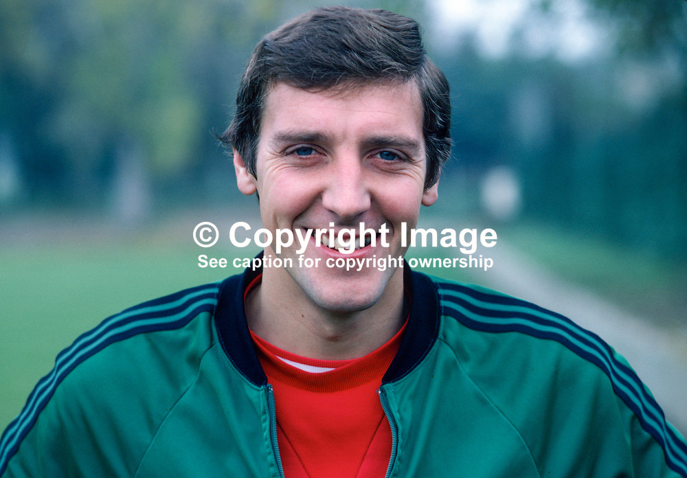 Sammy Nelson, footballer, Arsenal & N Ireland, 198011000359a.<br /> <br /> Copyright Image from Victor Patterson, Belfast, UK<br /> <br /> t: +44 28 9066 1296 (from Rep of Ireland 048 9066 1296)<br /> m: +44 7802 353836<br /> e: victorpattersonbelfast@gmail.com<br /> <br /> www.images4media.com<br /> <br /> Please see my full Terms and Conditions of Use at https://www.images4media.com/p/terms-conditions - it is IMPORTANT that you familiarise yourself with them.<br /> <br /> Images used online incur an additional cost. This cost should be agreed in writing in advance. Online images must be visibly watermarked i.e. © Victor Patterson or that of the named photographer within the body of the image. The original metadata must not be deleted from images used online.<br /> <br /> This image is only available for the use of the download recipient i.e. television station, newspaper, magazine, book publisher, etc, and must not be passed on to a third party. It is also downloaded on condition that each and every usage is notified within 7 days to victorpattersonbelfast@gmail.com.<br /> <br /> The right of Victor Patterson (or the named photographer) to be identified as the author is asserted in accordance with The Copyright Designs And Patents Act (1988). All moral rights are asserted.