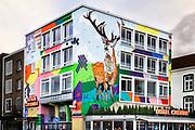 Nederland, Nijmegen, 28-1-2019 Het Hotel Credible heeft een succesvolle plek in de Nijmeegse binnenstad, stadscentrum . Het sluit aan op de behoefte en wereld van de hedendaagse young urban .Foto: Flip Franssen