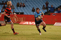 Burger Odendaal scores during the Currie Cup premier division match between the Blue Bulls and EP Kings held at Loftus Versfeld stadium, Pretoria, South Africa on the 19th August 2016<br /> <br /> Photo by:   Real Time Images