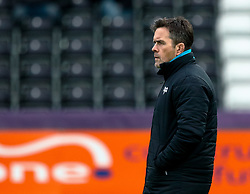 Head Coach Allen Clarke of Ospreys during the pre match warm up<br /> <br /> Photographer Simon King/Replay Images<br /> <br /> European Rugby Challenge Cup Round 5 - Ospreys v Worcester Warriors - Saturday 12th January 2019 - Liberty Stadium - Swansea<br /> <br /> World Copyright © Replay Images . All rights reserved. info@replayimages.co.uk - http://replayimages.co.uk