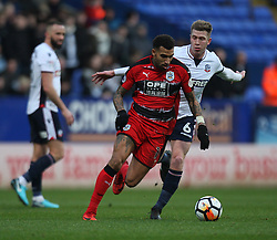 Daniel Williams of Huddersfield Town (L) and Josh Vela of Bolton Wanderers in action - Mandatory by-line: Jack Phillips/JMP - 06/01/2018 - FOOTBALL - Macron Stadium - Bolton, England - Bolton Wanderers v Huddersfield Town - English FA Cup