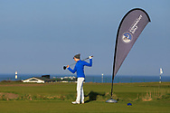 Ryan Griffin on the 1st tee during Round 4 of The West of Ireland Open Championship in Co. Sligo Golf Club, Rosses Point, Sligo on Sunday 7th April 2019.<br /> Picture:  Thos Caffrey / www.golffile.ie