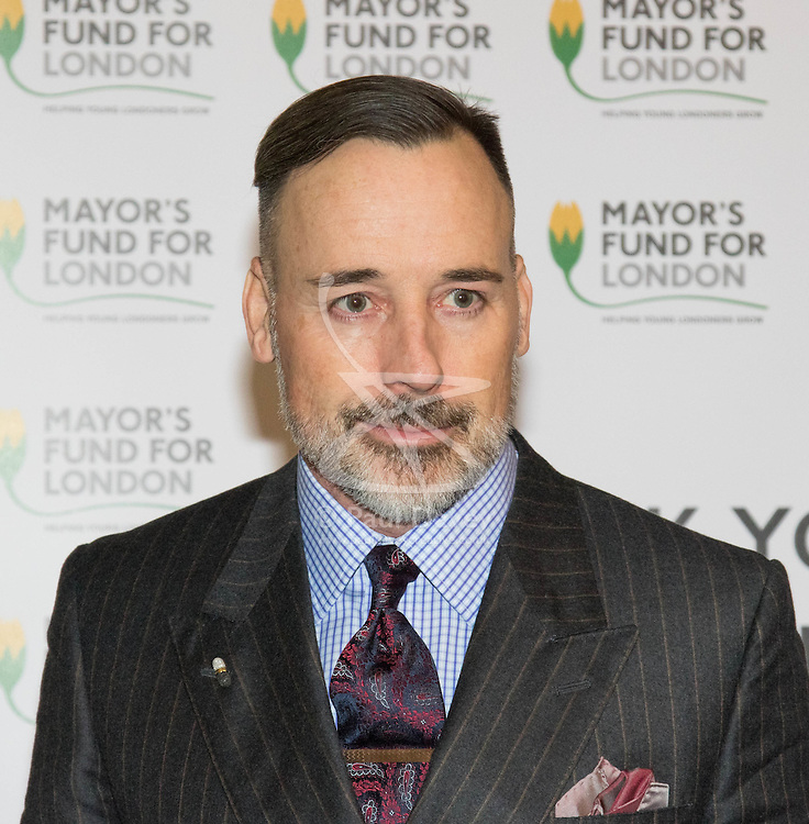 Halcyon Gallery, London, November 24th 2015. Mayor of London Boris Johnson joins celebrities and business leaders at Mayfair's Halcyon Gallery where pictures from a book showcasing London's true colours will be sold to raise money for the Mayor's Fund For London, which helps disadvantaged youths gain a foothold on the employment ladder. PICTURED: David Furnish.