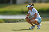 Brittany Lang (USA) looks over her putt on 18 during round 2 of the 2020 ANA Inspiration, Mission Hills C.C., Rancho Mirage, California, USA. 9/11/2020.<br /> Picture: Golffile | Ken Murray<br /> <br /> All photo usage must carry mandatory copyright credit (© Golffile | Ken Murray)