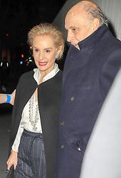 Carolina Herrera is seen leaving her last fashion week show with her husband in New York City. 12 Feb 2018 Pictured: Carolina Herrera and Reinaldo Herrera Guevara. Photo credit: ZapatA/MEGA TheMegaAgency.com +1 888 505 6342