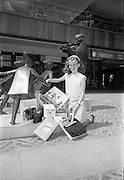 "17/07/1967<br /> 07/17/1967<br /> 17 July 1967<br /> Window spotting competition winner at Stillorgan Shopping Centre, Dublin. Eleven year old Elaine, daughter of Mr and Mrs William Stapleton of 45, Dole Road, Stillorgan, won the Stilorgan Shopping Centre Window Spotting Competition from nearly 1,000 entrants in ""spot the deliberate mistake"" competition at the centre. Picture shows Elaine surrounded by some of her prizes."