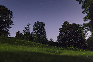 Mountainville, New York -  Stars in the sky and fireflies in the fields on July 5, 2014.
