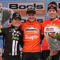 14-03-2015: Wielrennen: Wereldbeker vrouwen ronde van Drenthe: Hoogeveen<br /> HOOGEVEEN cycling: The first manche of the UCI womens worldcup the Boels Rental ronde van Drenthe won by Belgian Champion Jolien D'hoore