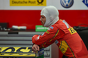 Daniel ABT of Germany and ABT Shuffler Audi Sport looks at the monitor during Round 9 of Formula E, Battersea Park, London, United Kingdom on 2 July 2016. Photo by Martin Cole.