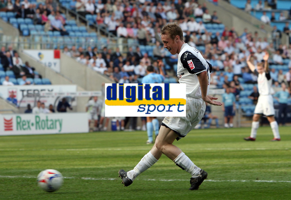 Photo: Rich Eaton.<br /> <br /> Coventry City v Preston North End. Coca Cola Championship. 14/04/2007. Brett Ormerod slots home Prestons 4th goal after a mix up in the Coventry defence
