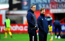 Cheltenham Town manager Michael Duff prior to kick-off- Mandatory by-line: Nizaam Jones/JMP - 21/11/2020 - FOOTBALL - Jonny-Rocks Stadium - Cheltenham, England - Cheltenham Town v Walsall - Sky Bet League Two