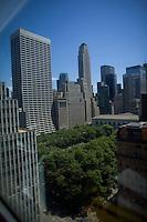 Bryant Park in New York.<br /> <br /> Photo by Robert Caplin