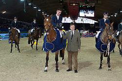 Landbouwleven Darco Cup<br /> Winners team Heartbreaker<br /> Geukens Jan - Firstbreaker<br /> Jumping  Mechelen 2011<br /> © Dirk Caremans
