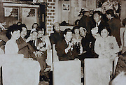 bar with fashionable dressed ladies in western style cabaret dance hall Tokyo Japan 1960s