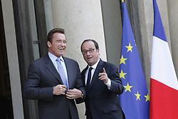 April 28, 2017 - Paris, France, France - Francois Hollande recoit Arnold Schwarzenegger ˆ l Elysee (Credit Image: © Panoramic via ZUMA Press)
