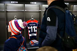 David Lemi's shirt hangs in the home dressing room before his 140th and last appearance for the club - Rogan/JMP - 13/04/2018 - RUGBY UNION - Ashton Gate Stadium - Bristol, England - Bristol Rugby v Doncaster Knights - Greene King IPA Championship.